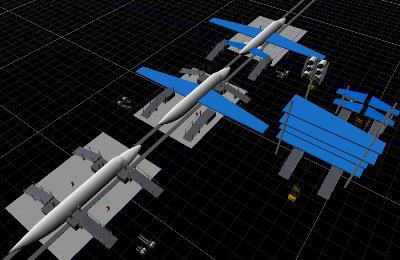 Aerospace manufacturing simulation